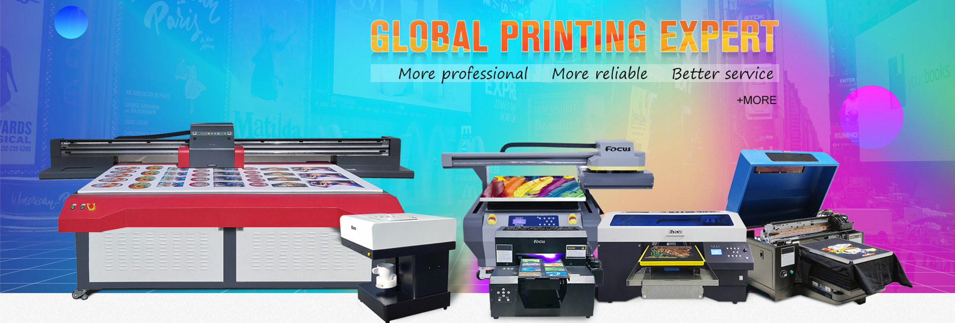 Uv flatbed printer from Focus Inc